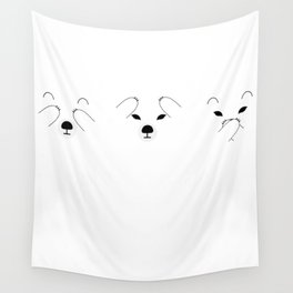 Three Wise Polar Bears Wall Tapestry