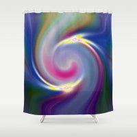 nietzsche Shower Curtains featuring Dancing Stars by Geni