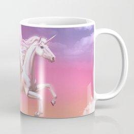Flying unicorn at sunset Coffee Mug