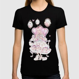 Cat's Tea Party Watercolor Painting T-shirt