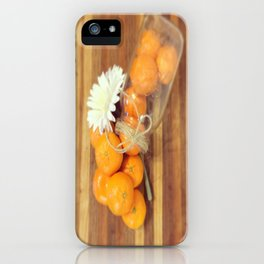 Lacy Clementines iPhone Case