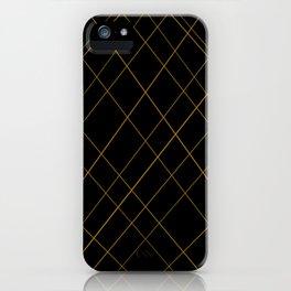 golden lines iPhone Case