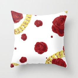 """Rose """"White"""" Throw Pillow"""