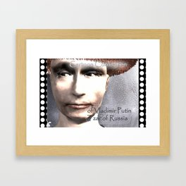Cartoon Coronation of Vladimir Putin Tzar of Russia Framed Art Print