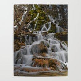 Water rushing from the mountains of Colorado Poster
