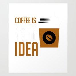 Coffee T-Shirt - Caffine T-Shirt, Coffee Lover Tees, Funny Art Print