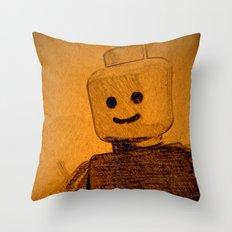 Old Lego Throw Pillow