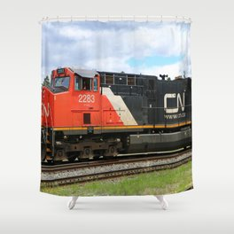 Canadian National Railway Shower Curtain