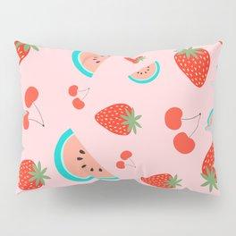 Fruit Salad (Pastel Pink) Pillow Sham