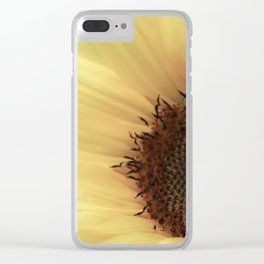 Dreamy Sunflower Photography Clear iPhone Case