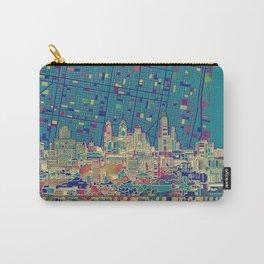 philadelphia city skyline map Carry-All Pouch