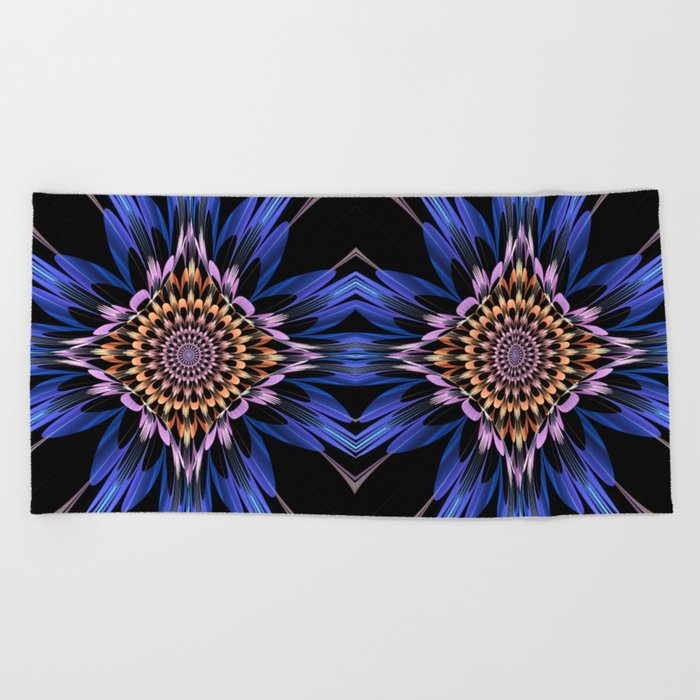 Petals burst Beach Towel