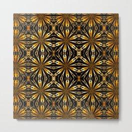 Floral motive gold Metal Print