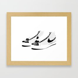 Invisible Laces Framed Art Print
