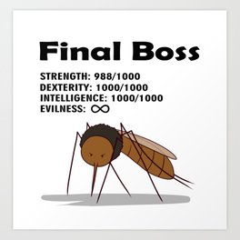 Final Boss - Black Letters Art Print