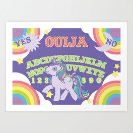My Little Pony Ouija Board Art Print