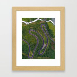 Sinuous road Framed Art Print