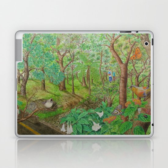 A Day of Forest (1). (walk into the forest) Laptop & iPad Skin