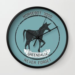 Horsebot 3000 Never Forget - Worn Wall Clock