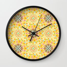 Sunshine Mandala Wall Clock