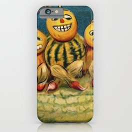 Halloween pumpkin men iPhone Case