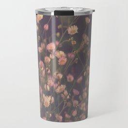 Vintage Asters Daisies Fleabane Wildflowers Travel Mug