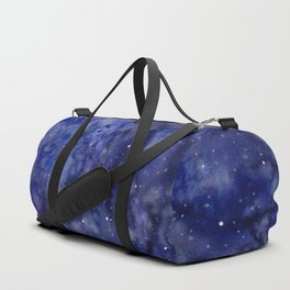 Night Sky Galaxy Nebula Stars Watercolor Space Texture Duffle Bag