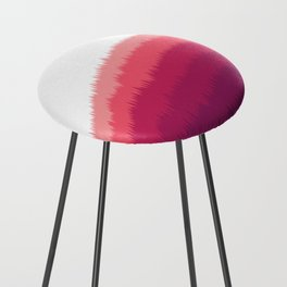 Layered Forest Hills - Purple to Pink Counter Stool