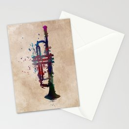 trumpet art #trumpet #music Stationery Cards