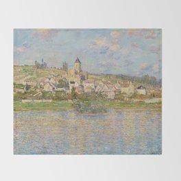 Vetheuil by Claude Monet Throw Blanket