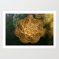 celtic Art Prints featuring Celtic Gold by Lynn Bolt