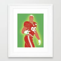 49ers Framed Art Prints featuring 49ers Vernon Davis by Courtney Charlton