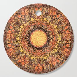 Marigold Mandala Cutting Board