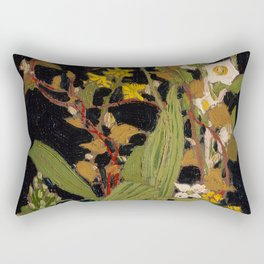 Tom Thomson - Moccasin Flower, Orchids, Algonquin Park - Canada, Canadian Oil Painting - Group of Se Rectangular Pillow