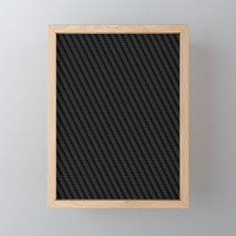 Carbon Fiber Capital Framed Mini Art Print