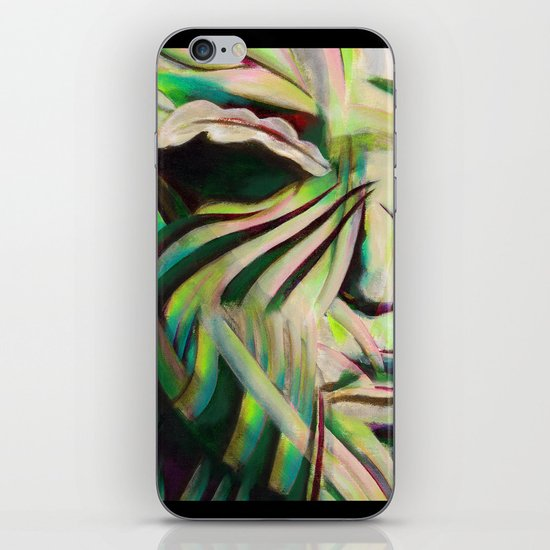Green Face iPhone & iPod Skin