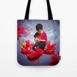 Red Bug Fairy Tote Bag