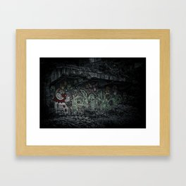 Angry Clown Framed Art Print