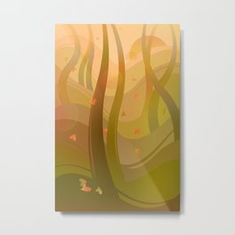 Enchanting Autumn Forest Metal Print
