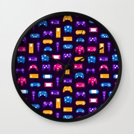 Video Games Pattern | Gaming Console Computer Play Wall Clock