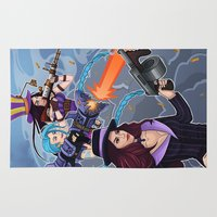 league of legends Area & Throw Rugs featuring League of Legends Gunners by Arnix
