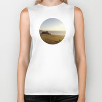 big sur Biker Tanks featuring Big Sur Cows by M. Wriston