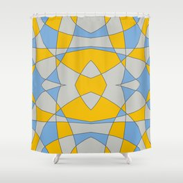 Abstract Retro Colored Butterfly Shower Curtain