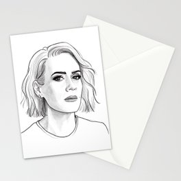 Sarah Paulson pencil portrait Stationery Cards