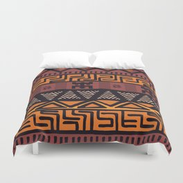 Tribal ethnic geometric pattern 021 Duvet Cover
