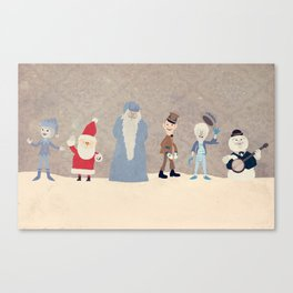 Claymation Lineup  Canvas Print