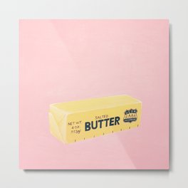 The Butter The Better Metal Print