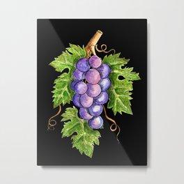 Cabernet Sauvignon Grape Leaves Metal Print