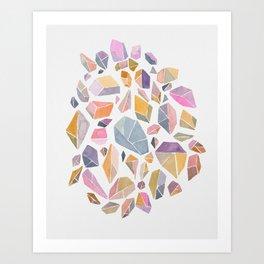 Geometric crystals Art Print