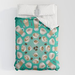 Coffee Kaleidoscope Comforters
